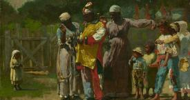 'Dressing for the Carnival' (1877) / WINSLOW HOMER