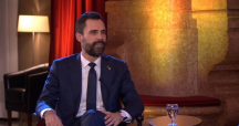 Roger Torrent durante la entrevista en TV3 /TV3