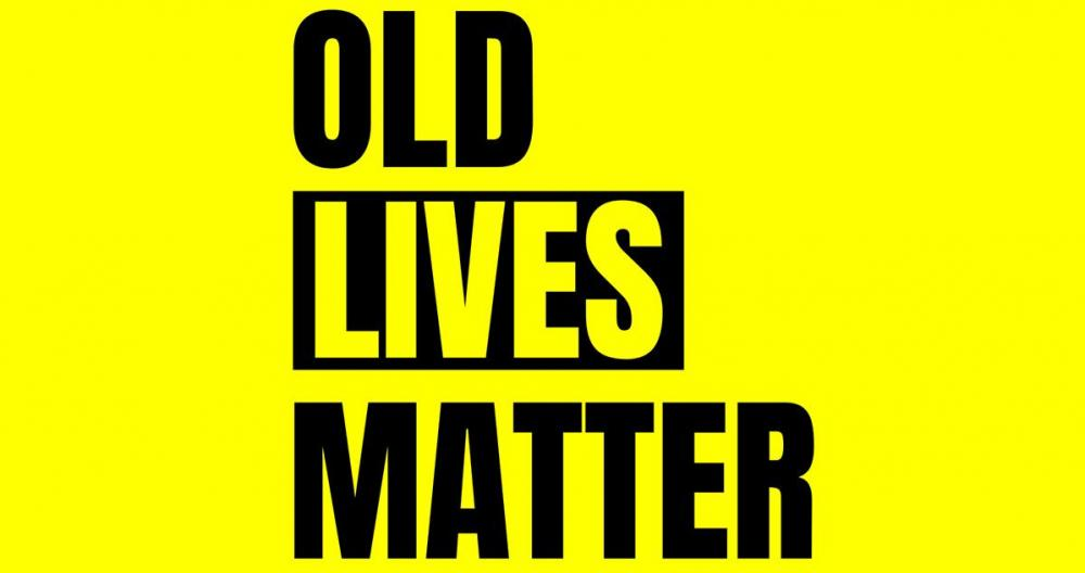Cartel de 'Old lives matter'