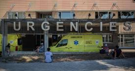 Dos ambulancias en el Hospital Universitario Arnau de Vilanova de Lleida / EUROPA PRESS