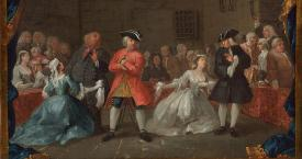 Escena de la 'Ópera del mendigo' (1728), obra de William Hogarth