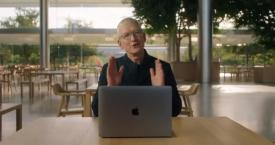 El CEO de Apple, Tim Cook, en un evento de la firma