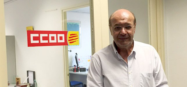 El secretario general de CCOO de Cataluña, Joan Carles Gallego
