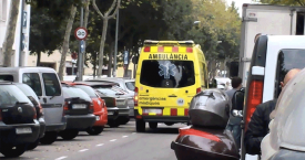 Una de las ambulancias catalanas