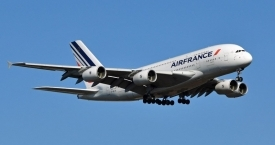 Un Airbus A380 de la flota de Air France