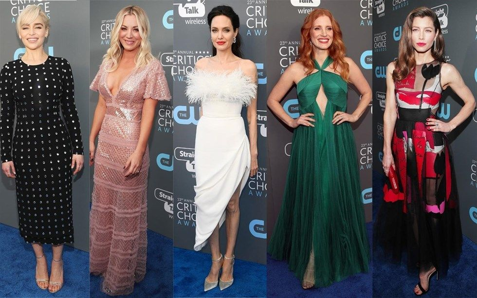 Las actrices de Hollywood en la gala Critic's Choice Awards
