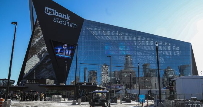 Exteriores del US Bank Stadium, sede de la final / EFE