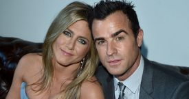 Una foto de archivo Jennifer Aniston y Justin Theroux