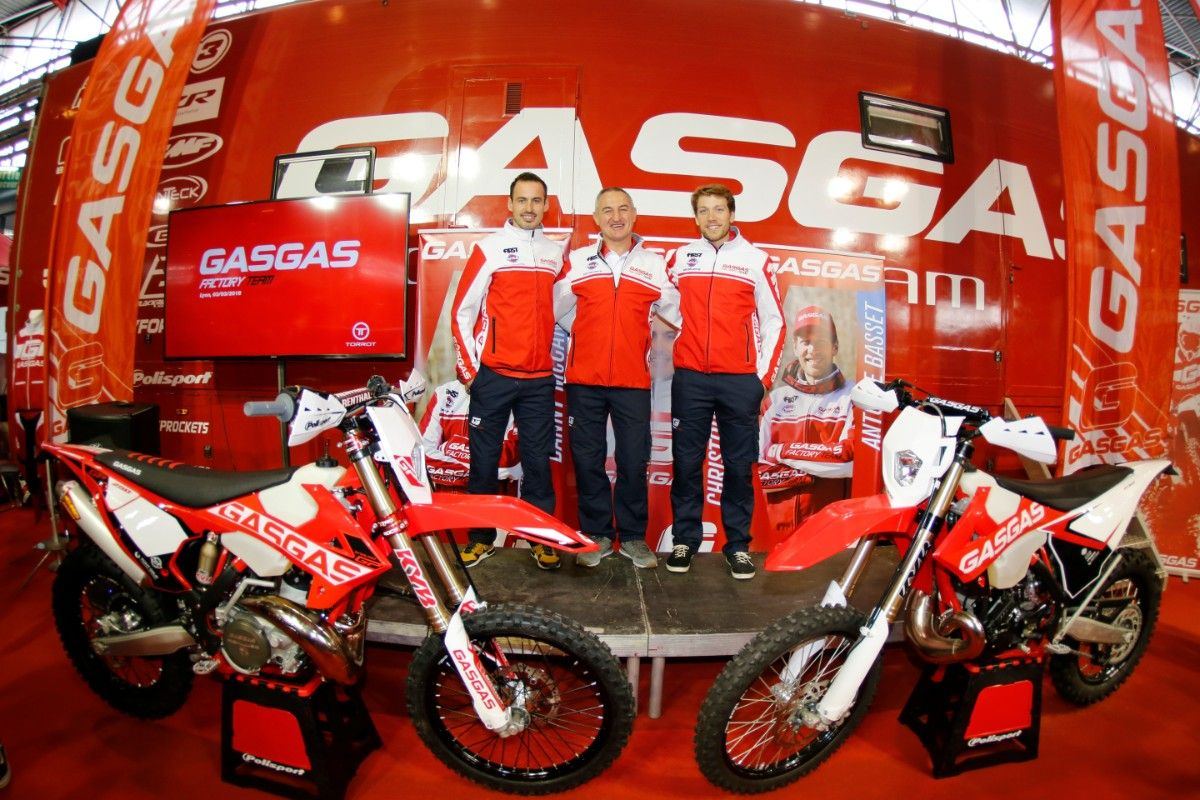 El equipo Gas Gas Enduro Factory Team en el 'Salon du 2 Roues' de Lyon / GASGASMOTOS.ES