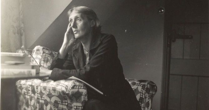 Virginia Woolf at Monk's house