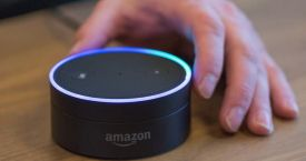 Una foto de archivo de Alexa, el asistente virtual de Amazon