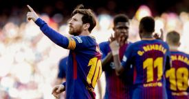 Messi celebra su gol ante el Athletic Club de Bilbao / EFE