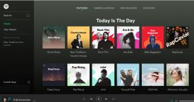 Captura de la web de Spotify