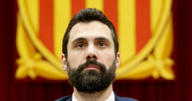 El presidente del Parlament, Roger Torrent