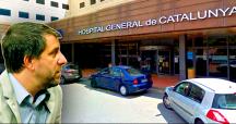 El 'conseller' catalán de Salud, Toni Comín, y el Hospital General de Catalunya / FOTOMONTAJE DE CG