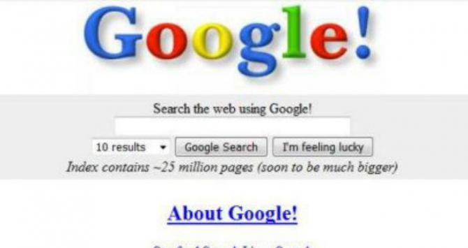 Portada de Google 1998 / CREATIVE COMMONS