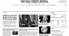 La portada digital de 'The Wall Street Journal'