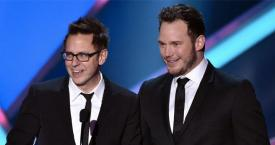 El director al que Diseny ha despedido, James Gunn, junto al actor de 'Guardianes de la Galaxia', Chris Pratt / DISNEY