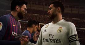 Messi y Sergio Ramos en un estadio que no es el Camp Nou / FIFA 19