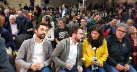 Roger Torrent, el presidente del Parlament, y Pere Aragonès , el vicepresidente del Govern en un acto de ERC / EUROPA PRESS