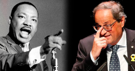 Martin Luther King y Quim Torra / CG