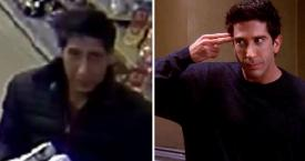 Imagen del atracador original y del actor David Schwimmer en su papel como Ross Geller / CREATIVE COMMONS