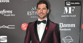 David Bisbal en la gala People in Red en el Museo Nacional de Arte Contemporáneo de Barcelona