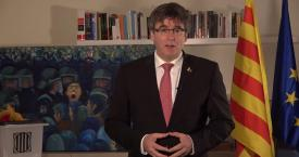 Carles Puigdemont en una de sus intervenciones desde Waterloo / EUROPA PRESS