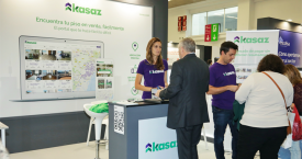Imagen de un estand de la 'start up' con sede en Barcelona Kasaz / CG