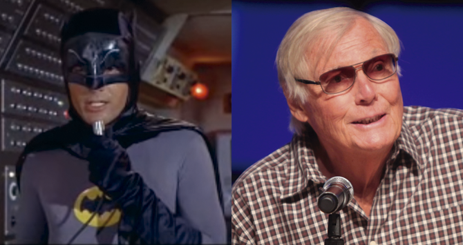 El actor Adam West interpretó a Batman en televisión