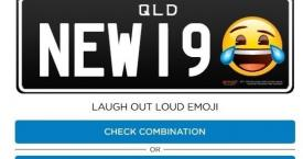 Un ejemplo de matrícula con emoticono en Queensland, Australia / EUROPA PRESS
