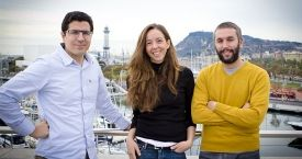 Ferran Nogué, co-fundador de HolaLuz y New Ventures; Carlota Pi, co-fundadora y CMO y Oriol Vila, co-fundador y CEO / HolaLuz