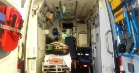 Interior de una ambulancia del 112 / EP