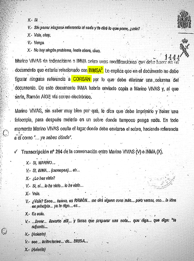 Sumario encontrado por la Guardia Civil en el registro de la casa de Antoni Vives / CG