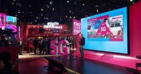 Stand de Deutsche Telekom y T-Systems en el Mobile World Congress / @TSystems_Iberia