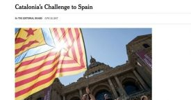 'The New York Times' dedica su editorial a Cataluña / CG