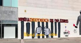 Una pintada independentista en una universidad catalana / S'HA ACABAT