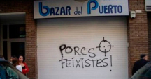 Una pintada en un local de Barcelona por no rotular en catalán / CG