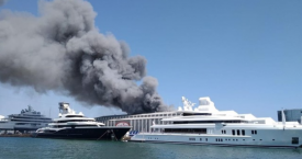 Incendio en el Puerto de Barcelona / EUROPA PRESS