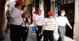 Miembros de los Guardian Angels patrullando esta semana en Barcelona / GUARDIAN ANGELS