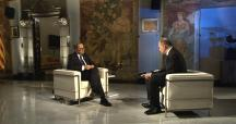 El presidente de la Generalitat, Quim Torra (i), junto al director de TV3, Vicent Sanchis (d) / CCMA