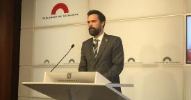 El presidente del Parlament, Roger Torrent / CG
