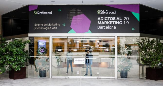 Entrada de la conferencia 'Adictos al Marketing' en el World Trade Center de Barcelona