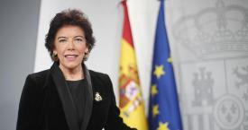 La portavoz y ministra de Educación en funciones, Isabel Celaá, cuya ley elimina el castellano como lengua vehicular / EP