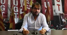 El secretario general de UGT de Cataluña, Camil Ros / EUROPA PRESS