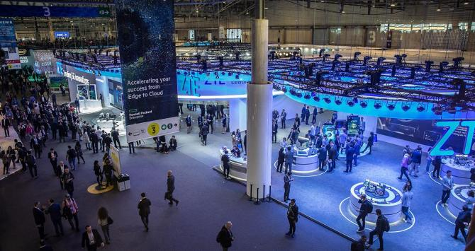 Uno de los pavellones del Mobile World Congress de 2019 / EUROPA PRESS