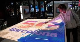 Una pantalla en el Mobile World Congress (MWC) / EUROPA PRESS