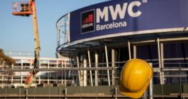 Trabajos de desmontaje del Mobile World Congress (MWC) / EP
