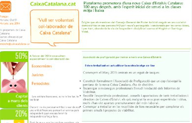 Captura de la web caixacatalana.cat