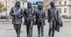 Estatua de 'The Beatles' en Liverpool